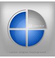 business circle gray blue vector image vector image