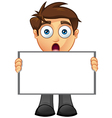 Business Man Blank Sign 7 vector image vector image