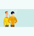 caucasian man whispering to a friend a secret vector image vector image