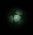 Champions league soccer ball with starts vector image vector image