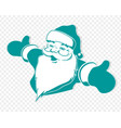 christmas silhouette of santa claus with his arms vector image vector image