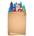 christmas thematic parchment 4 vector image