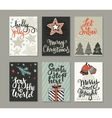 Collection of six Christmas greeting cards vector image vector image