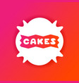 colorful gradient flyer for cafe with cakes quote vector image
