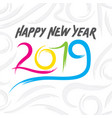 colorful new year 2019 poster design vector image