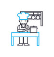 cooking linear icon concept cooking line vector image