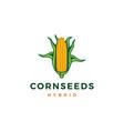 corn logo icon color vector image vector image