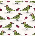 cute woodpecker cartoon seamless pattern vector image vector image