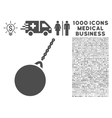Destruction Hammer Icon with 1000 Medical Business vector image