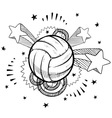 doodle pop volleyball vector image vector image