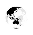 earth globe with black world map focused on vector image vector image
