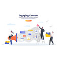 engaging content business concept blogging smm vector image vector image