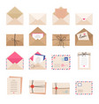 envelope collections mail letters greeting cards vector image
