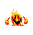 fire monster fantasy mystic creature cartoon vector image vector image