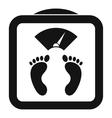Floor scales icon simple style vector image vector image