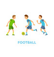 football team youth playing game outdoors vector image vector image