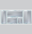 glass brightness frame realistic glass plate vector image vector image