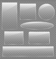 glass plates set square rectangle vector image vector image
