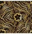 Gold pattern on dark background vector image vector image