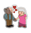 grandfather and grandmother lovely couple cartoon vector image vector image