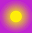 Halftone circle texture vector image