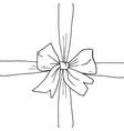 hand drawn bow ribbon vector image vector image