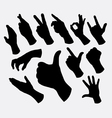 hand sign and gesture silhouettes vector image
