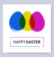 happy easter web banner with eggs vector image