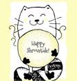Happy shrovetide hand drawn
