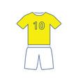 icon of football uniform vector image