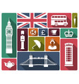 icons on a theme england vector image vector image