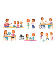 inclusion inclusive education cartoon icon set vector image vector image