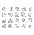 inspection line icon set vector image vector image