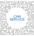 line icons poster of car service tools vector image