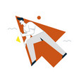 linear character man flying vector image vector image