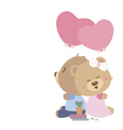 love concept couple teddy bear doll vector image vector image