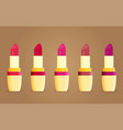 makeup beauty lipstick tube accessory colorful vector image vector image