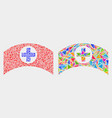 medical cap mosaic icon triangles vector image vector image