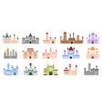 medieval castles fairytale buildings fortress vector image