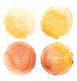 orange watercolor circle set on white background vector image vector image