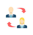 peer to peer related icon vector image vector image