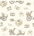 postal service seamless pattern vector image vector image