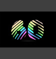 rainbow 60 sixty number stripes logo icon design vector image vector image