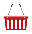 red basket shopping empty market commerce business vector image vector image