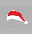 santa claus hat flat realistic santa claus hat vector image vector image