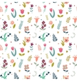 Seamless cute pattern of flowers vector image vector image
