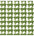 seamless pattern of sketch broccoli Beautiful vector image