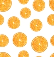 Seamless Texture with Slices of Oranges vector image vector image