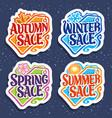 set for four seasons sale vector image