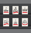 set of label elements of easter holiday vector image